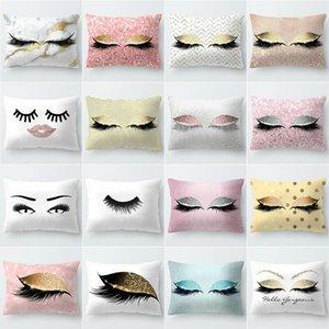 cuscino Fashion Floral geometrica stile poliestere della copertura della cassa in oro rosa tiro cuscino del divano Car Cover Home Decor
