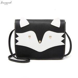 Women Pu Leather Flap Crossbody Bag Cute Cartoon Cat Mini Girls Small Casual Square Shoulder Messenger Bags Bolsa Feminina