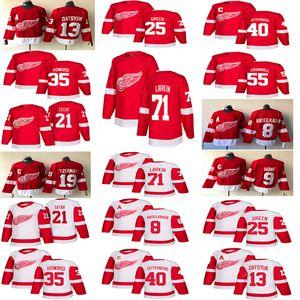 2018-2019 Detroit Red Wings Maglie Hockey 13 Pavel Datsyuk 40 Henrik 8 Justin Abdelkader 19 Steve Yzerman 71 Larkin 9 Howe 21 Tatar hockey