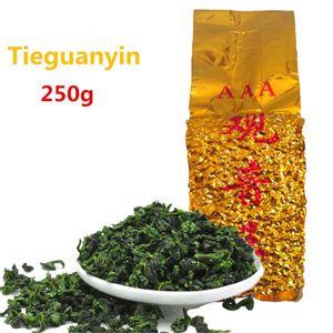 tè 250g cinese organico di Oolong del Fujian Anxi TieGuanYin Premium Tè verde Salute New Spring tè verde Food Vendite dirette della fabbrica