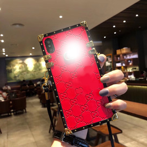 New luxury lady iphone case leather material frame drop-resistant phone case for iPhone 7 8 plus X S R 11 pro MAX.2020