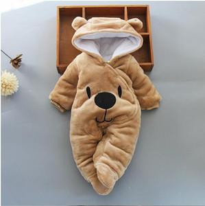 Sıcak Satış Bebek giyim Erkek kız Elbise Pamuk Yenidoğan yürüyor tulum sevimli Bebek yeni doğan kış giyim