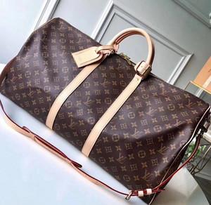Высокого качество дизайнера мужчины 50 55 спортивная дорожная сумка мужских багажные моно граммы роскоши вещевого мешка Crossbody тотализатор сумка блокировка keyd2