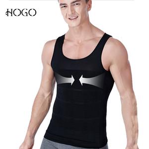 Gynecomastia postura correttore supporto schiena gilet dimagrante tette controllo shaper del corpo pancia pancia trimmer camicia senza maniche SH190905