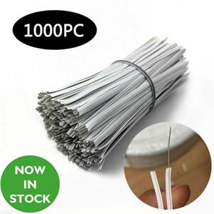 EU Stock nariz ponte para Máscara Fast Shipping Branco PE plástico dobrável fio flexível Torça gravata Ponte de Arame 100x3 1pcs mm = 1000 FY7036