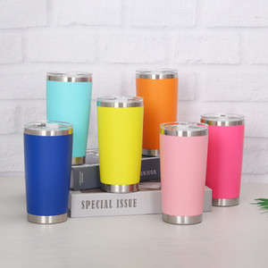 20oz spray plastic car cup creative portable car ice tyrant cup 304 stainless steel thermos cup customization Tumblers Dropshipping T2901