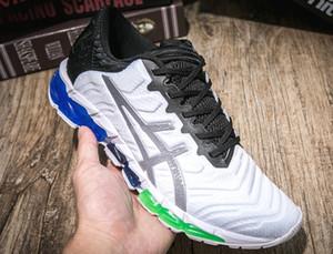 Asics shoes Avec Box GEL-Quantum 360 5 jeunes hommes nouveaux Amorti Chaussures de course Blanc Noir Rouge PIEMONT GREY étudiants Sneakers