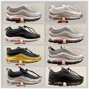 """Metalik Altın 1997s OG QS Çocuklar """"Çocuklar Koşu Ayakkabıları Bullet Gümüş Açık Spor Eğitmenler Siyah Spor Salonu Kırmızı Erkek Kız Sneakers"""