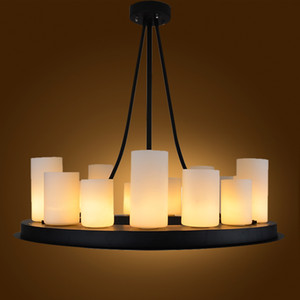 الحديد والزجاج الحديثة مصباح قلادة خمر شمعة الصمام الثريا كيفين رايلي ضوء قلادة مذبح المعادن الرجعية ضوء تعليق