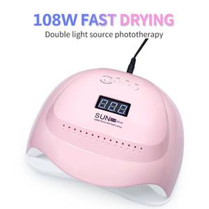 SUNz19 Plus Nail Dryer 108 80W LED Lamp 36 LEDs UV Ice Lamp Dryer For Drying Gel Nail Polish Auto Sensor Timer Ice Manicure