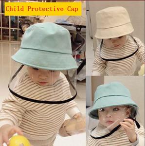 Çocuk Balıkçı Şapka Koruyucu Kapak Çocuk Anti-Dust Yüz Maske Bebek Aeolian Kum Toz İzolasyon Şapka Göz Koruma maskeleri Önleme YP544