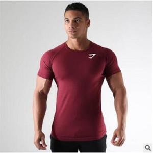 Neue Designer Herren Laufsport T-Shirt Gym Fitness Bodybuilding Skinny Print T-Shirt Sommer Männlich Jogging Training T Tops Bekleidung
