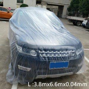Su geçirmez Anti UV Hafif Car Cover Taşınabilir toz geçirmez Açık Evrensel Şeffaf Tek Kullanım Dış Koruma