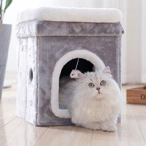 Litière Hiver Chaud Saisons Universel Net Net Chat Rouge Fournitures Maison pour Animaux Villa Grande Maison de Sommeil Profond