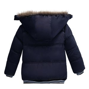 Kids Down Coat Baby Winter Snowsuits With Fur Long Sleeve Cartoon Thick Winter Warm Zip Hooded Coat Outwear Overcoat Y92