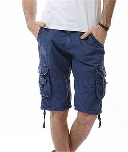 Summer Men Designer Causal Shorts Fashion Knee Length Overalls Pants Pleated Loose with Packet Mens Clothing