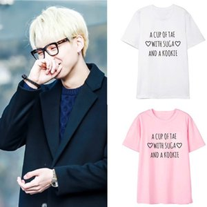 Bts Short Sleeve Bulletproof Juvenile Group Suga Minmen His Letter Fans Periphery Respond To Aid T Pity Men And Women Summer