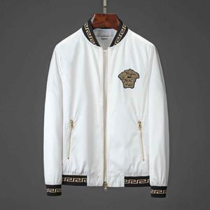 19ss tasarımcı moda brandmen en motosiklet ceket yaka yaka İnce rahat erkek WINDBREAKER ceket mavi lüks gömlek erkek ceketi