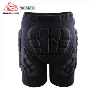 WOSAWE Unisex Motorcycle Shorts Ski Snowboarding Protective Gear Hip BuPad Extreme Sports Bike Armor Motocross Shorts