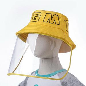 Hat Damen Herren Staubmaske visière Fisherman Anti-Spitting Masken Protective Hat Gesichtsschutz Visier Caps Bucket Chapéus