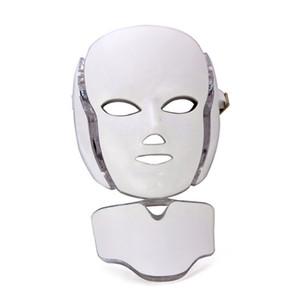 2020 PDT 7 цветных светодиодного свет терапии лица красота машина LED для лица шеи Маски с микротоковым для отбеливания кожи устройства