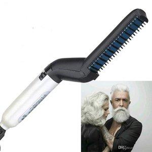 Haarglätter Elektrische Haare kämmen für Männer Bart-Strecker-Bürsten-Hot Tools Haar-flaches Eisen Curling
