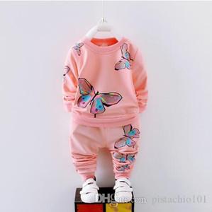Les garçons et les filles de vêtements de printemps et les enfants de costume de loisirs automne chaud 1-4 ans ensemble 2 jeux pour enfants bébé