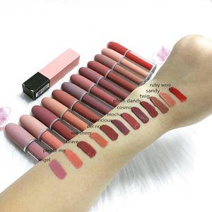 EPack alta qualidade da composição Matte Lipstick DHL frete grátis 12 cores nova maquiagem Lábios Brilho Lip Gloss Matte Lipstick líquido! 4,5g