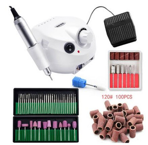 lPro 35000RPM Nail Master Electric Nail Drill Machine Manicure Machine Nail Drill Bit Set Case Anti-scald Handle