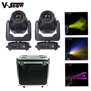 2 pcs com o caso 200W movendo a luz cabeça LED Beam Wash Lavagem 3in1 Fase Luz DMX DJ Stage Light for Bar Club Disco Party