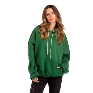 Women's Casual All Match Contrast Color Drawstring Hoodies Batwing Long Sleeve Striped Drop Shoulder Top Sport Pullover Hooded Sweatshirts