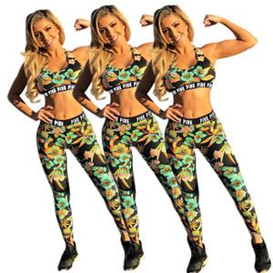 Femmes Designs Vêtements de sport Fleurs Floral Débardeur court Gilet sport Pantalons Soutien-gorge Leggings Deux Branded Piece Tenues Beachwear Maillots de bain maillot de bain D6815