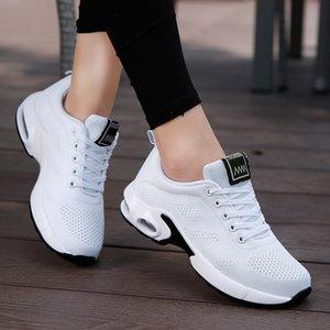 ZHENZU 여성 경량 스니커즈 통기성 메쉬 컴포트 신발 야외 스포츠 신발 에어 쿠션 레이스 업 실행