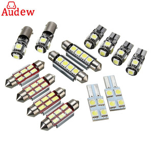 Freeshipping 14Pcs Coche LED Placa Interior Luz de Lectura Festoon Bombilla Blanco Reemplazo Para VW Transporter T5