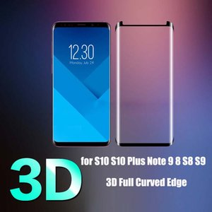 3D Full Curved Edge Tempered Glass For Samsung Galaxy Note 9 Note8 Screen Protector For Samsung S8 S9 Plus Protection Glass
