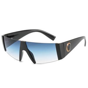 Lunettes de soleil monoblocs pour hommes haut de gamme Lunettes de soleil monoblocs haute définition marque de designer de mode marine lunettes de soleil mode pour hommes UV400 cadeau 9