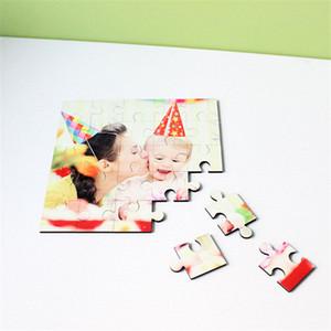 Sublimação mdf woodiness quebra-cabeças Quadrado forma puzzle hot impressão de transferência de consumíveis diy brinquedos presentes DP-003 25 peças de blocos