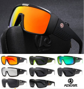 KDEAM Outdoor Oversized Shield Dragon Sonnenbrille Männer Einzellinse Steampunk Brille Surfen Brille KD2514 10 stücke