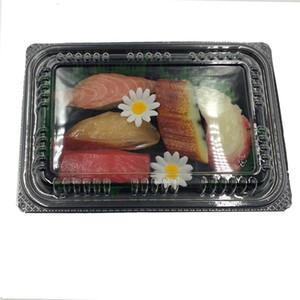 20PCS desechable Take Out Ensalada Cajas rectángulo torta de cajas de embalaje de arroz envase de alimento cargar cajas Out