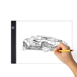 الصمام ضوء مربع a4 أدى رسم اللوحي usb الرسومات لوحة الإلكترونية الفن الفنان استنسل رسم لوحة الرقمية وسادة الكتابة الرقمية