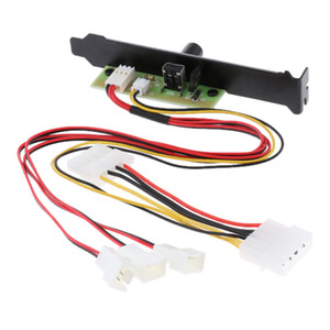 3 PCI Fan Controller Hub For Computer Case Splitter Mini 3Pin Port 12V