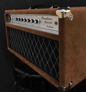 Grand Valve Hand-wired ODS100 Overdrive Special Guitar Amplifier Head 100W in Brown Custom Logo and Faceplate is Available free shipping
