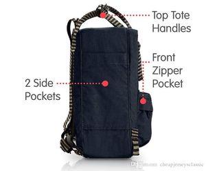 Fjallraven Kanken Preto / Listrado Backpack Unisex Viajando bolsa clássico Moda Laptop Bag Com frete grátis