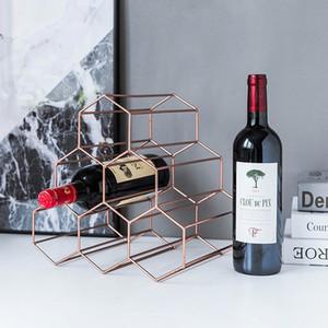 étagère moderne vin minimaliste fer créatif européen étagère vin présentoir de la maison de salon Décoration réseau LM3121422