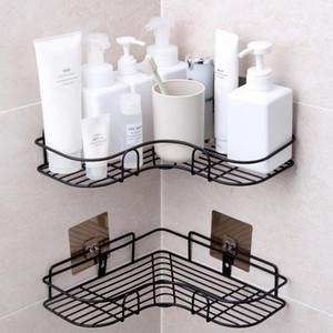 Banho Acessórios gratuito perfurado casa de banho Canto cremalheira dispositivo elétrico forjado armazenamento de ferro rack Cozinha tripé parede