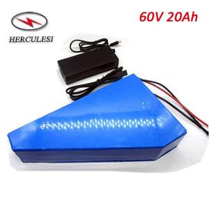 Triângulo Ebike Bateria de Lítio 60 V 20Ah Li Ion 18650 Bateria com 30A BMS Para Bicicleta Elétrica 60 V 1000 W 1500 W