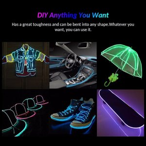 EL Wire DIY Flexible Neon Light Glow Rope tape Cable LED String Light For Party Dance Car Decoration