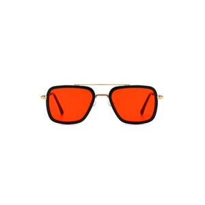 SEEMFLY Black Pink 9-16 years old children new sunglasses men and women sunglasses Yellow Red metal glasses street retro fashion