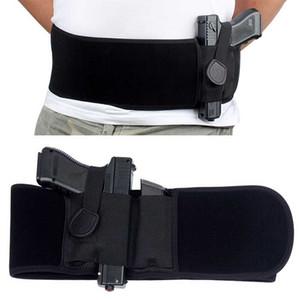 Горячая Tactical Живот Группа скрытого ношения пистолета кобура правой рукой пистолет универсальный Невидимый эластичный пояс пистолет кобуры ремень Пояс YD0101