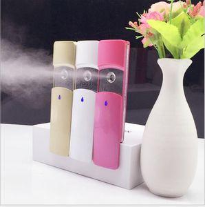 Nano Facial señor práctico de la niebla del aerosol vapor vapor facial Cara pulverizador recargable con 9 ml de diapositivas cubierta del tanque de agua